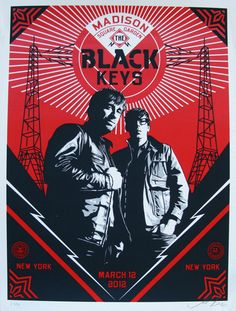 The Black Keys Madison Square Garden 2012 by Shepard Fairey