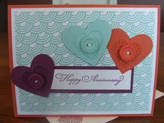 *Stampin' Up, by Amy Frillici, Gathering Inkspiration **order products online at amysuzanne.stampinup.net, Happy Anniversary Sycamore Street Card