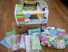 This is the Prize Package I won from the New Year contest at @TheCraftStar   It is so awesome! LOOK at all that fabric for quilting! And the Cricut is great for cutting out shapes for quilting on bibs and blankies and placemats... woohoo... just LOVe it. THANK U, The CraftStar