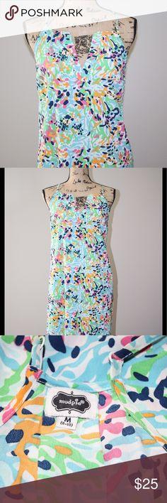 Mudpie colorful adjustable strap sundress sz M Mudpie colorful adjustable strap sundress sz M  Excellent Condition  100%polyester Mud Pie Dresses