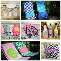 Sassy Southern Gals Boutique Awesome site for monogrammed gifts! www.SassySouthernGals.com
