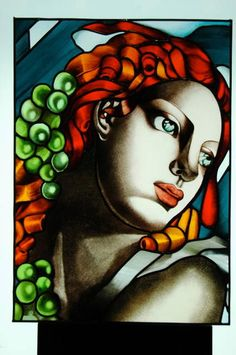 Tribute To TAMARA DE LEMPICKA - Delphi Stained Glass