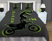 Motocross Duvet Cover, Kids Bedding Kids Rooms, Boys Motocross Bedding Sets, Dirt Bike Bedding, Freestyle Tricks, King, Queen, Twin XL#54