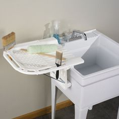 The Folding Utility Sink Sideboard. This Is The Shelf That Attaches To The  Side Of A Utility Sink And Folds Away When Not In Use.   $59.95