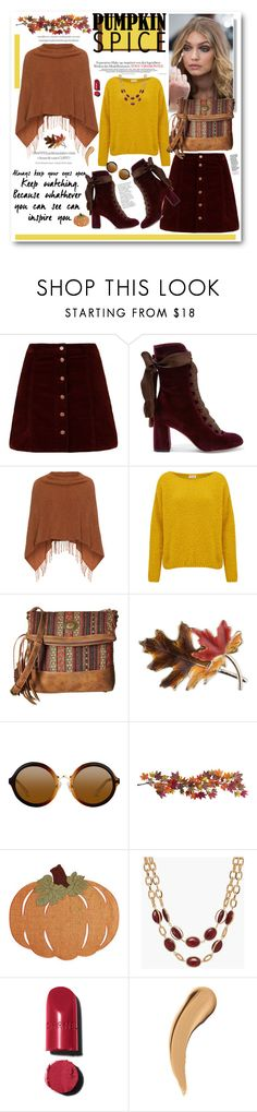 """""""Pumpkin Spice Style 2..."""" by cindy88 ❤ liked on Polyvore featuring Chloé, Samoon, American Vintage, American West, Anne Klein, Nearly Natural, Homewear, Talbots, Chanel and pss"""