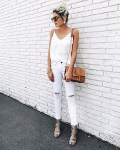 Match your camisole slip tank with your jeans for a chic and easy monochrome look.
