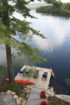 New House Lake View Backyards 52 Ideas Lake Cabins, Cabins And Cottages, Lake Cottage, Cottage Living, Lakeside Cottage, Go Skinny Dipping, Lake Dock, Boat Dock, Lakeside Living