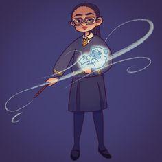 My Patronus and me💫 . #art #drawing #illustration #painting #doodle #ipadpro #applepencil #procreateapp #digitalart #digitalpainting #harrypotter #hufflepuff #hogwarts #magic #expectopatronum #patronus #pug #fanart #イラスト #絵 #ハリーポッター #ハリポタ #ハッフルパフ #ホグワーツ #魔法 #エクスペクトパトローナム #パトローナス #守護霊 #パグ #犬