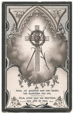 Sacred Heart with Cross & Crown of Thorns Antique Dutch Catholic Holy Prayer Card, Catholic Gift, Engraving Vintage Holy Cards, Vintage Paper, Patron Saint Of Animals, Jesus Christ Images, Christ The King, Heart Of Jesus, Crown Of Thorns, Catholic Gifts, Prayer Cards