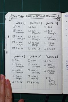 Impressive Bullet Journal Designs Runners Are Using  Journal