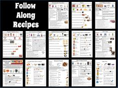 13 Visual Recipes for kids.  Easy to follow along! Repinned by  SOS Inc. Resources  http://pinterest.com/sostherapy.