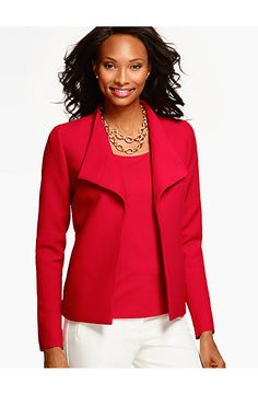 Wing-Collar Jacket - Talbots
