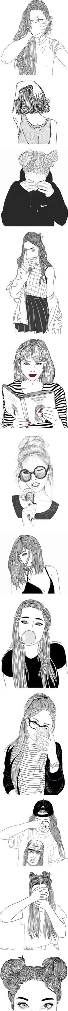 74 best hipster girl drawing images in 2018 Tumblr Girl Drawing, Tumblr Sketches, Tumblr Drawings, Doodle Drawings, Cute Drawings, Drawing Sketches, Girl Drawings, Drawing Ideas, Drawing Faces