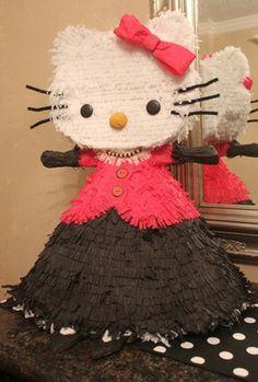 Homemade Parisian Hello Kitty Pinata