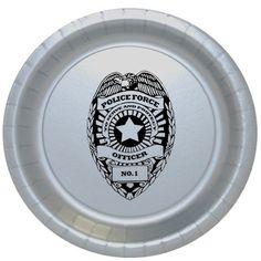 Police Badge Dessert Plate Birthday Party Supplies law enforcement