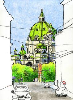 Vienna Austria. $35.00, via Etsy.