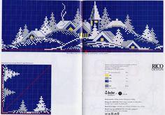 Schema punto croce Tovaglia 05