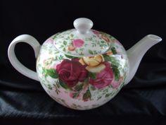 Royal Albert Country Rose Chintz Tea Pot.