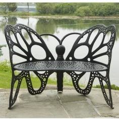 Brand new butterfly bench for your front and/or back yard or even porch. Measures 46 by 27 by 35 inches. Unique design on this butterfly bench. Get it now!