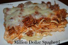 Carissa's Collections: Million Dollar Spaghetti Easy Cake Recipes, Easy Dinner Recipes, Easy Meals, 10 Dollar Dinners, Million Dollar Spaghetti, Oven Pork Chops, Oatmeal Dessert, Walleye Fish Recipes, Asparagus Recipe