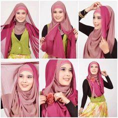 Tutorial Cara Memakai Hijab Modern Pashmina 2015– Saat ini trend berbagai cara memakai hijab di kalangan perempuan yang begitu buming, mulai dari anak kecil hingga dewasa semua sangat senang memilih model hijab, terutama cara memakai hijab modern pashmina untuk tahun 2015. Mari kita liat cara untuk mebat model hijab tersebut . Tutorial Cara Memakai Hijab