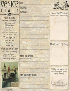 Art on the Go: Free Printable Venice Journal and Sketch Page | The Wanderlust Designer | Creative inspiration & artsy ideas for the traveler.