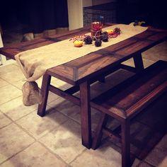 Rustic kitchen table #myersfamilycarpentry