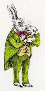 """""""The White Rabbit"""" by John Vernon Lord from Lewis Carroll's 'Alice's Adventures in Wonderland' (Artists' Choice Editions, 2009)"""
