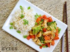 Kung Pao Chicken (and vegetables) - I skip step two to make it even easier and it's still great