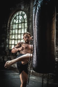 The Challenge - Model | David  Keywords: male model, fitness, fit, sexy, blond, workout, photoshoot, rugged, boxing, boxing bag, fashion
