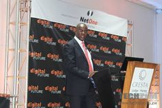 Gelfand Kausiyo, Project Lead for the Digital Migration exercise, makes his presentation at the Digital Future Conference Business News, Conference, The Creator, Presentation, Company Logo, Exercise, Content, Future, Digital