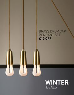 Stay bright this Winter! We've got some pretty sweet lighting deals to ease the gloom of these long, dark days. See all deals at plumen.com
