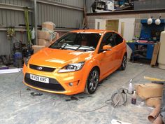 Electric Orange ford focus ST -  via www.starcardetailing.com