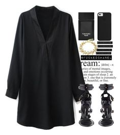 """""""BLVCK."""" by fuckedchanel ❤ liked on Polyvore featuring Tom Ford and TOMFORD"""