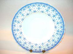 ~ SPODE FLEUR DE LIS LARGE RIMMED SOUP BOWL BEAUTIFUL BLUE AND WHITE SPODE CHINA