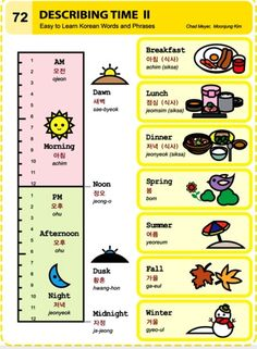 Learning Korean - Describing Time II