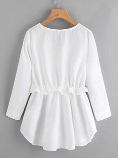 Blusa de cintura con cordón | ROMWE