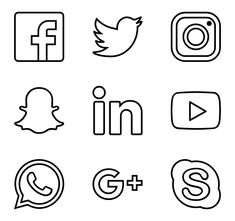 170 free vector icons of Business Collection designed by Smashicons Social Network Icons, Social Media Logos, Social Icons, Cute Easy Drawings, Mini Drawings, Web Banner Design, Whatsapp Logo, App Icon Design, Design Design