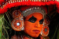 A folk dancer from Kerala state looks on near his state's tableau, at a preview ahead of the Republic Day, in New Delhi, InColorful India - Photos - The Big Picture - Boston.com