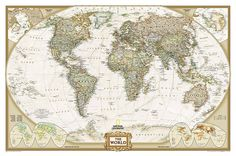 Buy map: World, Executive, Sleeved by National Geographic Maps – YellowMaps Map Store