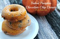 Baked Pumpkin Chocolate Chip Donuts
