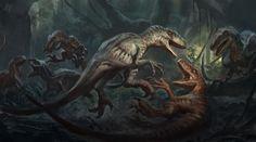 Canon Deep Dive: The Three Subspecies of Velociraptor in Jurassic World and Where to Find Them - Jurassic Outpost Dinosaur Nursery, Dinosaur Art, Dinosaur Fossils, Dinosaur Fight, Raptor Dinosaur, Jurassic Park 3, Jurassic World Dinosaurs, Spinosaurus, Fantasy Wesen