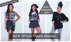 Sometimes you need outfit inspo that's a little more simple.  Whittling down your color palette to just black and white gives you a chance to focus on flair, personality, accessories and texture. Check out this black and white outfit inspo that's great for back to school or just a fun day out.  Visit my channel for more style videos. youtube.com/indigenousdestiny
