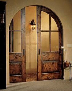 Pocket doors, so nice to tuck the doors away like they aren't there. Much more inviting than showing the doors and the option of closing off the room. The Doors, Windows And Doors, Arched Doors, Entry Doors, Patio Doors, Arched Interior Doors, Front Entry, Door Entryway, Arch Interior