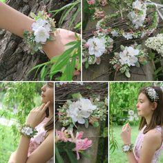 svatební květinový náramek