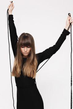 HI-END maxi dress in black | www.hienddesign.com