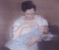 S. mit Kind S. with Child 1995 62 cm x 72 cm Catalogue Raisonné: 827-6 Oil on canvas