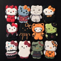 16 Hello Kitty Cookies For Halloween – Top Easy Design For Party Decor Project - Easy Idea (11)