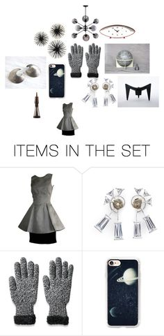 """Space Inspiration"" by happyfortunevintage ❤ liked on Polyvore featuring art, modern and vintage"