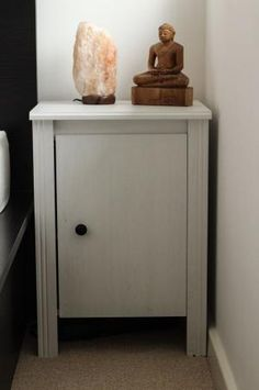 Brusali mesilla de noche blanco ikea decoraci n - Ikea mesillas de noche hemnes ...